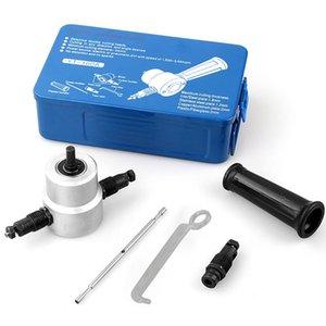 Çift Kafa Kağıdı Nibbler Testere Kesme KOLAY-1 Set Metal Kesici Alet Matkap Eklenti Kesici Takımlar Aksesuarlar ayarlar