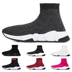 Balenciaga Top mode Speed Trainer Marque De Luxe Chaussures rouge gris noir blanc Flat Classique Chaussettes Bottes Baskets Femmes Baskets Coureur taille 36-45