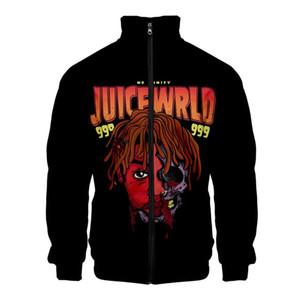 Juice cantante wrld americano collare maniche lunghe Zipper Mens giacca casual collare del basamento Top Coat di moda casual di base