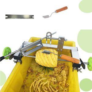 Yedek bıçak kolay kullanım commecial meyve hami kavun soyucu yüksek kalite ile Manuel paslanmaz çelik ananas soyma makinesi