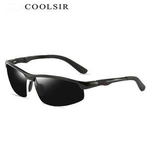 Männer neue Aluminium-Magnesium-polarisierte Sonnenbrille Sports Reitgläser, treibende bunt und verfärbte polarisierten Sonnenbrillen