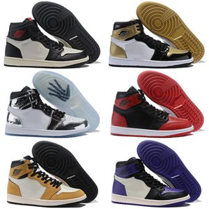 Gold Bred Toe Jumpman 1 OG Kids Basketball Shoes for Mens shoes Chicago 1S 6 rings Sneakers Trainers WOMEN MID New Love UNC Sport Shoes