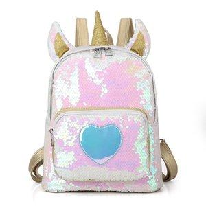 러블리 유니콘 여행 어깨 가방 바디언 장식 조각 배낭 절묘한 레이저 배낭 재사용 학생 가방 여자 한국어 버전 32mf k1