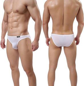 Mode-Sommer-Männer Thin Briefs Ice Silk String-Bikini-Slips Unterwäsche Sexy Bikinis und Briefs Herren-Unterwäsche 6color KC-B318 L-3XL
