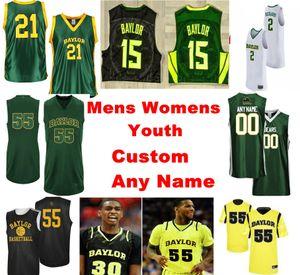 Baylor Bears jerseys Flo Thamba Jersey Devonte Bandoo Turner Adam Flagler Marcos Vital NCCA jerseys del baloncesto para hombre Personalizar cosido
