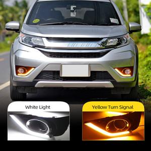 2Pcs LED Daytime Running Light For Honda BR-V BRV 2016 2017 Car Accessories Waterproof ABS 12V DRL Fog Lamp Decoration