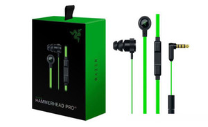 Office School Razer Hammerhead Pro V2 Headphone in ear earphone With Microphone With Retail Box In Ear Gaming headsets DHL FREE