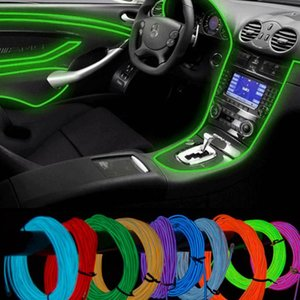 10 Color selected controller decorative Led thread sticker accessory Flexible Neon Light EL Wire Rope Tube