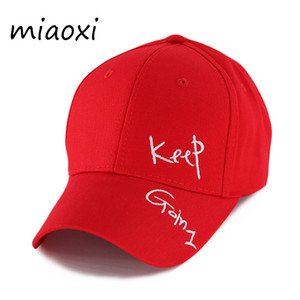 Miaoxi Nouvelle Mode Femmes D'été Réglable Casual Casquette De Baseball Adulte Red Hat Lettre Caps Pour Hommes Coton Snapback Hip Hop Chapeau