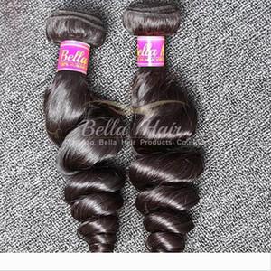 Bella Hair? Grade 9A Malaysian Hair Bundles Unprocessed Human Hair Extensions Wavy Loose Wave 2pcs lot Natural Color Hair Weft Free Shipping