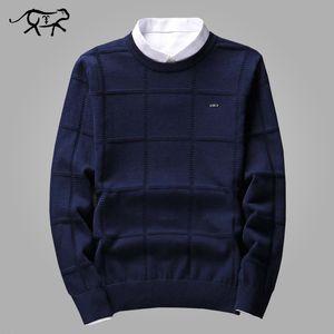Сплошной цвет свитера Мужчины O Шеи пуловер Мужчины с длинным рукавом свитера вскользь Мужской Марка Кашемир Проверить Трикотаж Man Вытяните SH190903