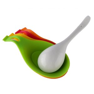 Heat Resistant Spoon Insulation Mat Non-toxic Placemat Silicone Dish Holder Grade Tray Spoon Pad