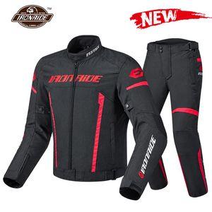 Ironride 2020 Motosiklet Ceket Erkekler Jaqueta Motociclista Su Geçirmez Sürme Yarış Moto Koruma Motocross Ceket Linner ile