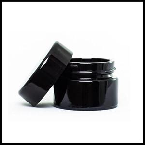 Protection UV Plein noir 5 ml Concentré de verre Cire de cire DAB DAB Herbe Botte de verre Bottle DHL Free