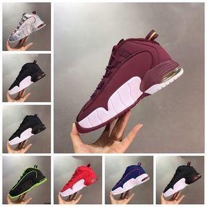 2020 Penny 1 Université Rouge Volt Noir Mens Basketball Chaussures Coussin Penny Hardaway Paniers de mousse un sport Chaussures de sport Taille 13