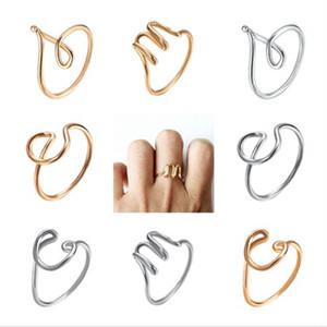 26 A-Z رسالة الإنجليزية خواتم أزياء المرأة اليد الجرح الأبجدية بسيطة المفتوحة قابل للتعديل حزام سيدة الإبداعية مجوهرات TTA949-6