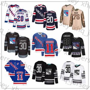 Custom New York Rangers Jerseys 11 Mark Messier 30 Henrik Lundqvist 76 Brady Skjei 20 Chris Kreider 89 Pavel Buchnevich 9 Panarin USA Flag