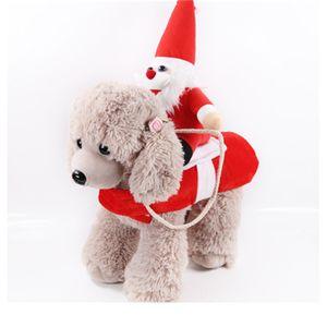Yeni Tasarım Noel Noel Baba Bebek Giyim Köpekler Evcil Binme At Suit Giyim Cosplay Komik Parti Dekorasyon 24gg H1