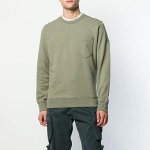 19FW 63820 POCKET CREWNECK SWEAT TOPSTONEY Hoodies Hommes Femmes Pull à manches longues Casual Street extérieure solide Pull HFYMWY349