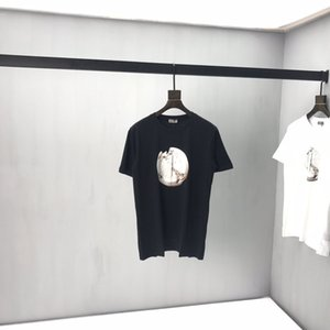 2020 Французская весна и лето мода часы сломаны сигнализация печататься дышащей футболки мужские дизайнер высокого качества смешанного хлопка футболку