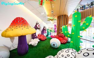Le jardin gonflable enfantin de plantes d'inflation fleurit le décor de parc / centre commercial gonflé de cactus de centre commercial
