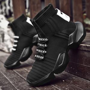 VSIOVRY otoño del resorte de los calcetines zapatillas de deporte de los hombres zapatos gruesos papá Zapatos Hombres punto transpirable zapatillas Caminar no deslizante krasovki Y200104