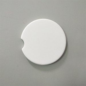 La sublimación de coches Coaster cerámica cojín de la taza de cerámica 6.6cm Mat Posavasos de cerámica portables para el A02 mayorista