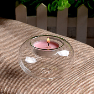 1Pcs Beautiful Clear Glass Tea Light Votive Candle Holders Wedding Table Party Gift 8cm 10cm 12cm