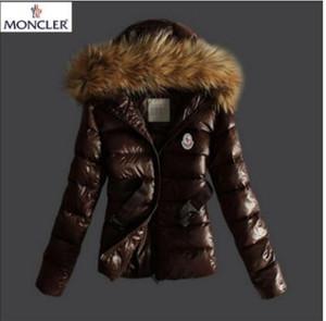 2019 donne giacca invernale signore reale collo di pelliccia di procione anatra giù cappotto caldo Femme con tutti i tag e l'etichetta