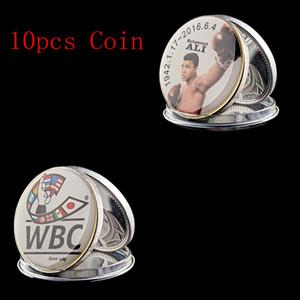 10pcs 2016 WBC Sportman Of The Century World Boxing Muhammad Ali plaqué argent Collection de pièces Défi 1 oz