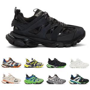 Balenciaga Moda diseñador de lujo zapatillas de deporte de pista para hombres mujeres triple negro blanco gris exterior zapatos casuales altura altura aumentando trotar caminar