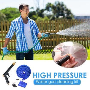 16ft High Pressure Water Spray Gun Expandable Hose Spray Nozzle Kit Car Wash Garden Pipe Adjustable Spraying Garden Irrigation