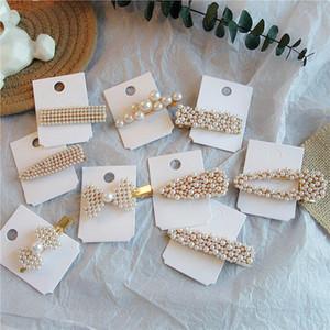 INS Mode Perle Mädchen Haarspangen vintga Prinzessin BB Clips boutique Kinder Spangen Designer Haar-Accessoires für Frauen Haarspangen A6583