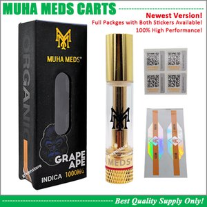New Muha Med Cartucho vivo Resina Vape Carrinho 0,8ml Tanque Grosso Oil Ceramic bobina 510 Battery Alpine Dime VVS