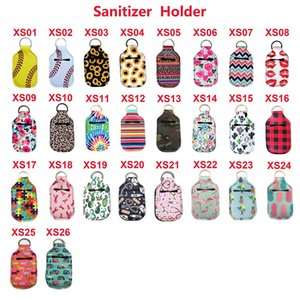Neoprene Hand Sanitizer Bottle Titular Keychain Bags 30ML 10.3 * 6cm Key Rings sabonete Bottle Titular 26 cores