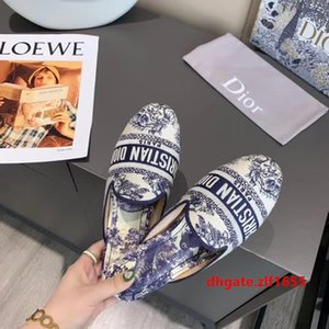 OFF Around World Slippers Women Fashion Women Half Slides Mules Loafers Casual Slipper cd Female Summer Shoes Flat Sandals Christian