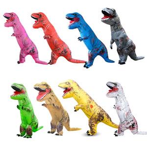 Dinozor Şişme Kostüm Dinozor Cosplay Suits T-Rex Şişme Açık Oyuncak dinozor yabancı Cadılar Bayramı Partisi Fantezi Elbise takım elbise