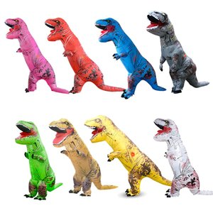 Dinosaurio inflable traje Trajes Cosplay dinosaurio T-Rex inflable al aire libre Juguetes dinosaurio extranjero traje de Halloween Fancy Dress Party