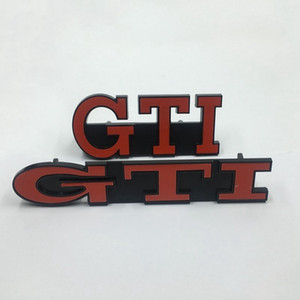 Placa Grill accesorios del coche del emblema de la parrilla del frente 3D GTI para Volkswagen VW Golf GTI MK2 MK3