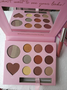 Makeup Eyeshadow Palette Lipstick Maquillage Foundation cosmetic Valentine's Day Gift Set With Heart Shadow And Lip Gloss In 11 Colors