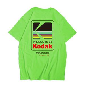 Kodak Logo Hommes T-shirt Photographe Rétro O-Neck T-shirts en coton T-shirt décontracté Hommes Harajuku Haut XS-2XL