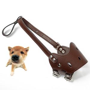 Bozal ajustable para perro Perro anti-mordedor Boca cubierta Cachorro Máscara protectora PU Transpirable Aseo Anti Stop Mascarilla masticable Tamaño XL DBC DH0979-4