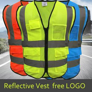 Yüksek Görünürlük Reflektif Yelek İşyeri Yol İş Kıyafetleri Motosiklet Bisiklet Sporları Açık Yansıtıcı Güvenlik Giyim