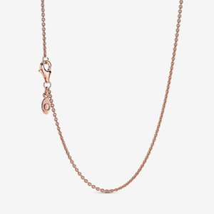 New arrival 925 Sterling Silver Rose Gold Classic Cable Chain Necklace With Lobster Clasp Fit European Pendants and Charms Fine Jewelry Gift