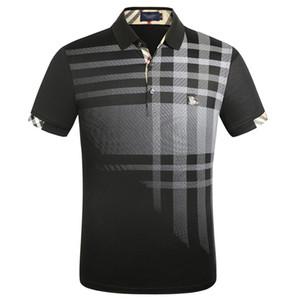 2020 Летний Новый конструктор рубашки поло с коротким рукавом Мужская вышивка Печать Бизнес отворотом Новый Polo Shirt размер M-3XL
