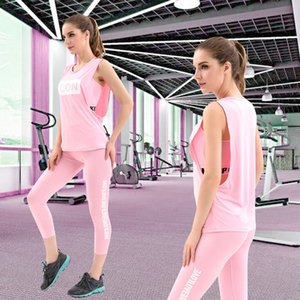 2019 Gym Clothing Three-piece Sport Suit Women's Fitness Yoga Sets Pockets Sexy Gym Wear Costumes Tracksuits For Women T200530