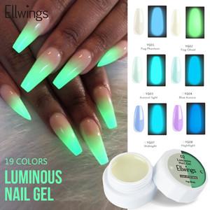 Ellwings Fluorescent Luminous гель лак для ногтей Semi Постоянной Долговечность геля лака Soak Off UV LED Night Gloss Lacquer