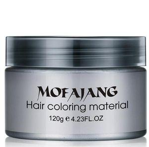 2019 Mofajang saç balmumu saç şekillendirici Mofajang Pomad geri Güçlü stil geri Pomad balmumu büyük İskelet kaygan 120 adet / karton kutu 7 renkler