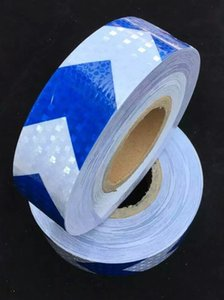 10cm wide arrow guidepost adhesive reflective safety warning tape square flashing self-adhesive tape