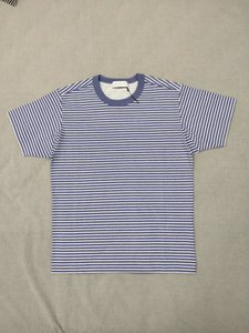 19SS Marina T-shirt Topstoney Pigment Impresso Imagem Stripe T Shirt Homens e mulheres casal confortável Designer camisa HFWPTX366